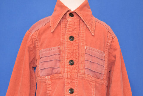 70s Corduroy Button Front Salmon Shirt Toddler 3T