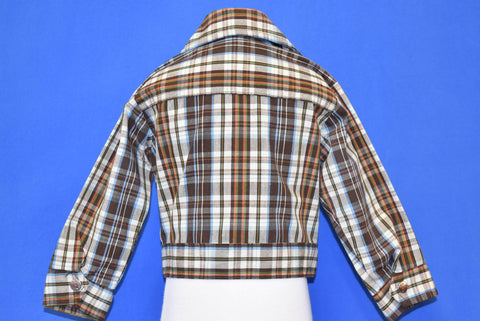 70s Billy the Kid Brown Plaid Snap Up Jacket Toddler 3T