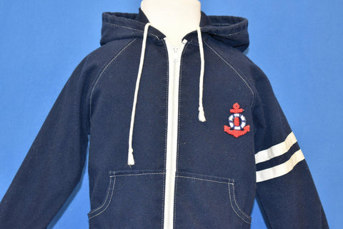 70s Donmoor Blue Anchor Nautical Hooded Jacket Toddler 3T