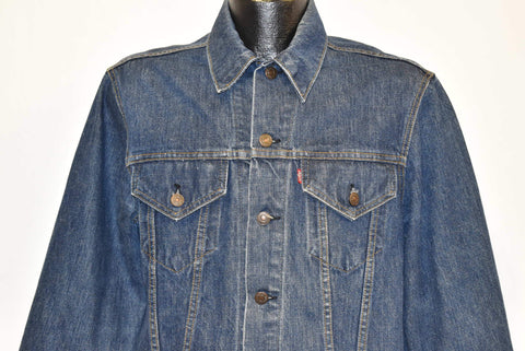 80s Levis Type 3 70505 Trucker Dark Denim Jacket Medium