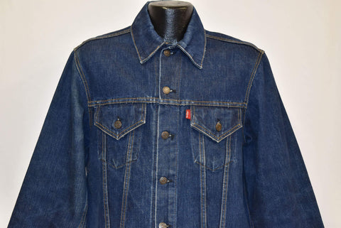 80s Levis Dark Denim Type 3 Trucker Jean Jacket Large
