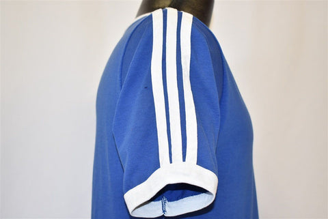 80s Adidas Trefoil Logo V-Neck Jersey t-shirt Medium