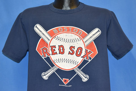 80s Boston Red Sox MLB Baseball Bat Diamond Logo t-shirt Large