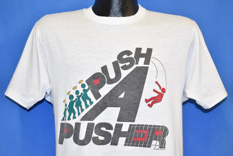 80s Push A Pusher Drug Free Neighborhood t-shirt Medium