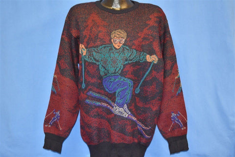 90s Patrick James Ski Jumping Wool Sweater Large