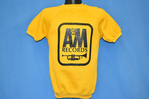 70s A&M Records Short Sleeve Sweatshirt Extra Small