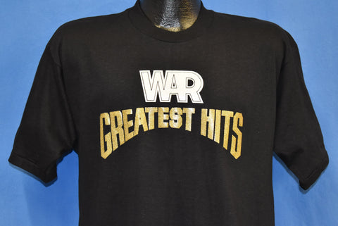 70s War Greatest Hits Glitter Iron On Funk Band t-shirt Medium