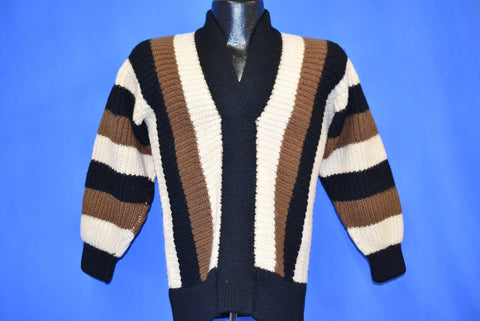 40s Geistex Striped Wool Sweater Extra Small