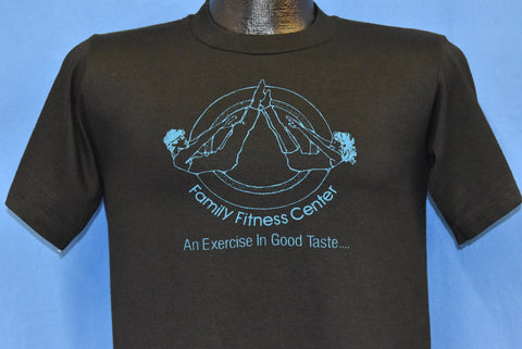 80s Family Fitness Center Exercise Good Taste Aerobics t-shirt Small