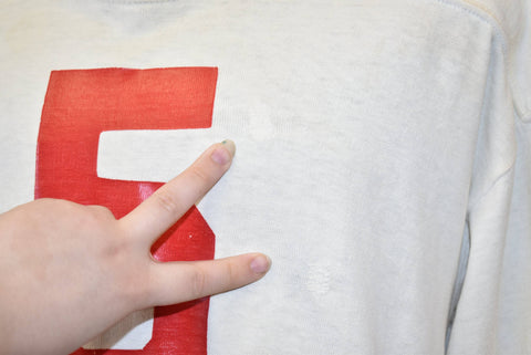 50s Distressed #5 White Football Jersey WHS 695 t-shirt Large