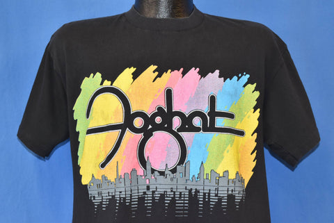 90s Foghat Rock Band Tee Rainbow Skyline t-shirt Large