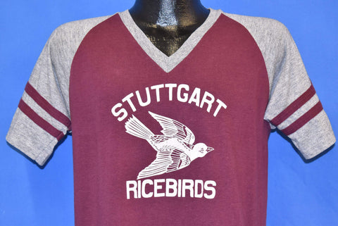80s Stuttgart Ricebirds Maroon Jersey t-shirt Medium