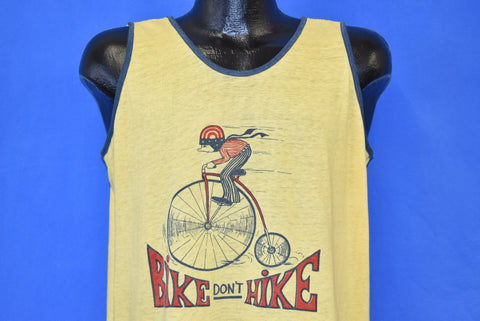 70s Bike Don't Hike Tank Top t-shirt Medium