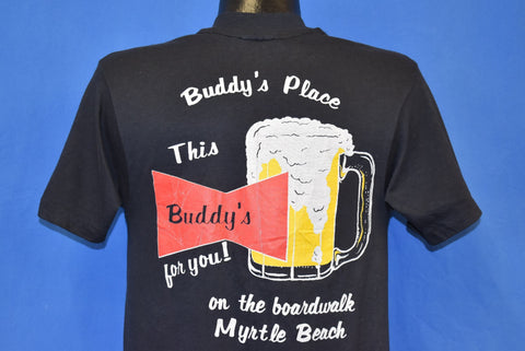 80s Buddy's Place Myrtle Beach Budweiser Spoof t-shirt Medium
