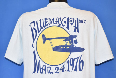 70s Blue Max 1st Anniversary '76 Airplane Pocket t-shirt Extra Large