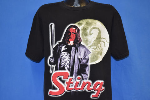 90s WCW Sting Wrestling nWo Wolfpac Red Makeup t-shirt Large