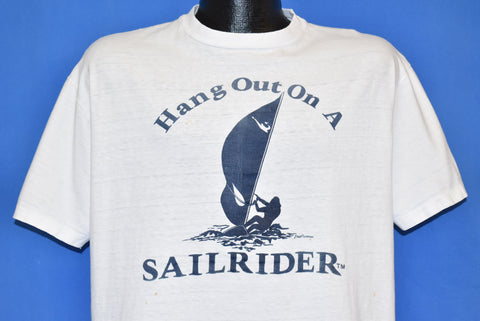 80s Hang Out on a Sailrider Windsurfing t-shirt Large