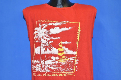 80s Bahamas Sailing Beach Muscle Tee t-shirt Medium