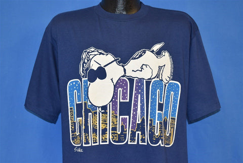 80s Snoopy Chicago Skyline t-shirt Large