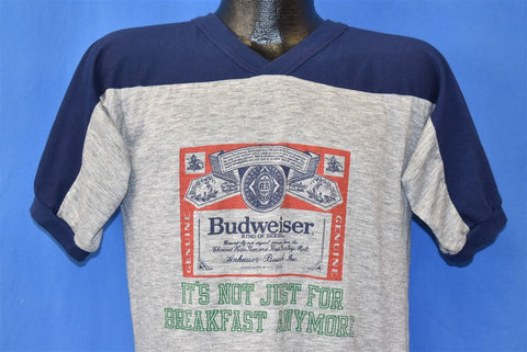 70s Budweiser Beer Not Just For Breakfast t-shirt Large