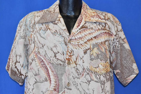 80s Ocean Pacific Faded Aloha Hawaiian Shirt Extra Large