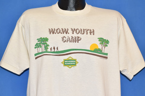 80s WOW Wooden Rangers Youth Camp Sunset t-shirt Extra Large