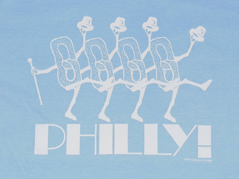 Philadelphia Dancing Pretzel Light Blue T-shirt (Youth)