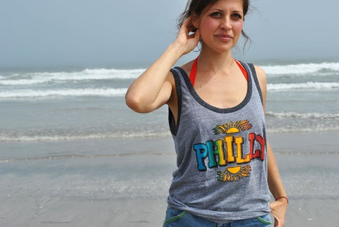 Philly Rainbow Tri Blend Tank Top