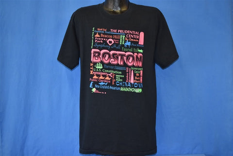 80s Boston Massachusetts Neon Tourist t-shirt Large