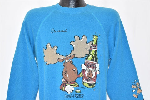 80s Moose Butt Beer Spoof Moosehead Sweatshirt Medium