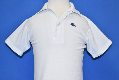 80s Izod Lacoste White Polo Alligator Shirt Toddler 2T