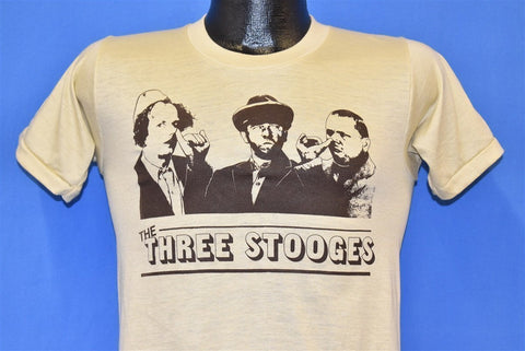 80s Three Stooges Curly Larry Moe Funny t-shirt Small