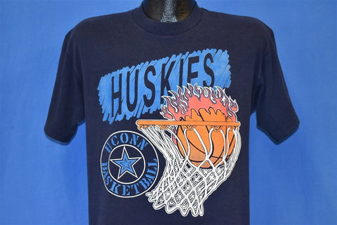 90s U Connecticut Huskies U Conn Basketball t-shirt Medium