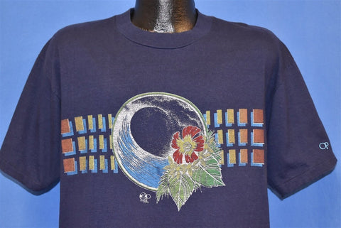 80s OP Ocean Pacific Surf Hibiscus Wave t-shirt Extra Large
