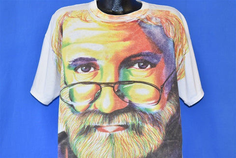 90s Jerry Garcia All Over Grateful Dead t-shirt Extra Large