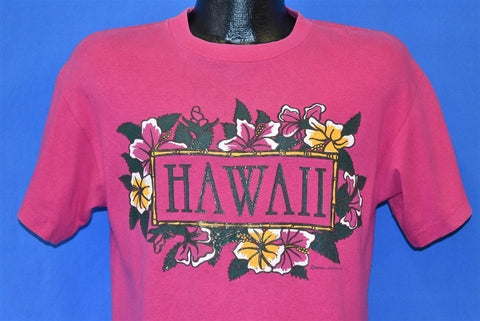 80s Hawaii Hibiscus Flowers Tourist t-shirt Medium