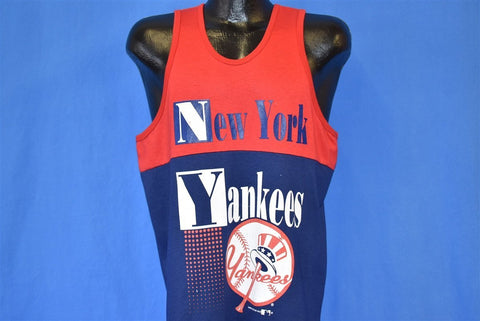 80s New York Yankees MLB Tank Top Baseball t-shirt Large