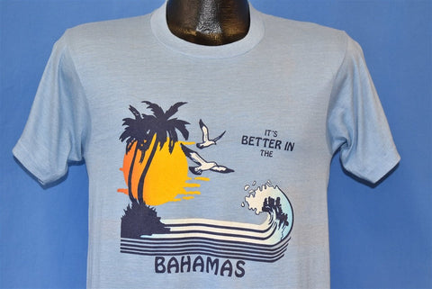 80s It's Better in the Bahamas Sunset Wave Tourist t-shirt Small
