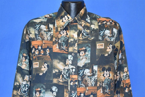 70s Mickey Mouse Portrait Gallery Disney Disco Shirt Medium