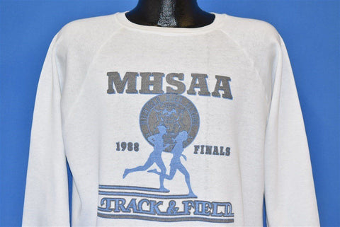 80s MHSAA Track & Field Finals '88 Sweatshirt Large
