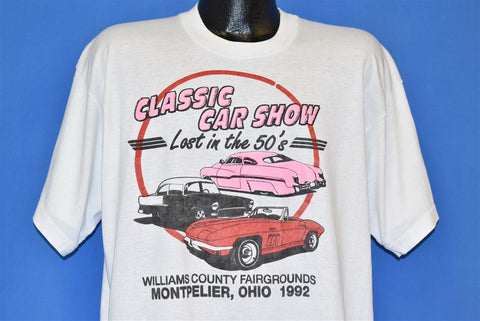 90s Classic Car Show 1992 Montpelier Ohio t-shirt Extra Large