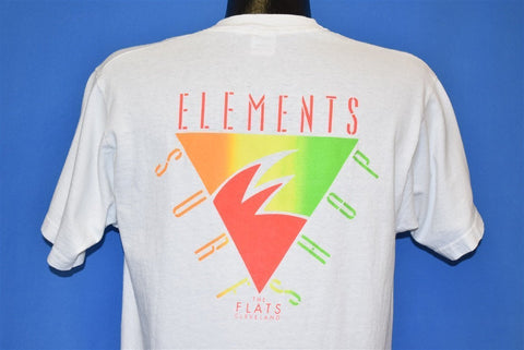 90s Elements Surf Shop The Flats Cleveland t-shirt Medium