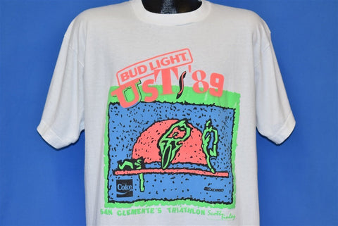 80s Bud Light USTS Triathlon San Clemente t-shirt Extra Large