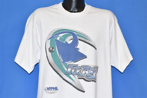 90s Corpus Christi Icerays WPHL Hockey White t-shirt Extra Large