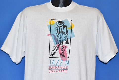 80s Jazz'n Sundance Square Fort Worth Texas t-shirt Large