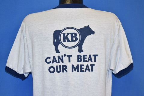 80s Kaye Brothers Can't Beat Our Meat Ringer t-shirt Large