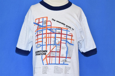 70s Downtown Syracuse Wearable Map Ringer t-shirt Extra Small