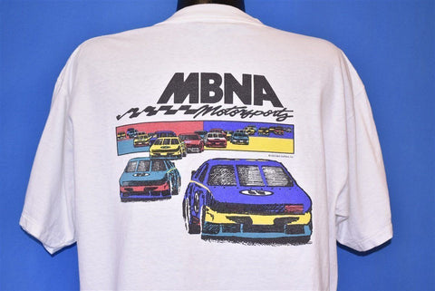 90s MBNA Motorsports Race Cars 1995 NASCAR t-shirt Extra Large
