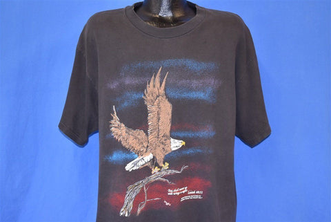 90s Bald Eagle Isaiah 40:31 Bible Verse t-shirt Extra Large