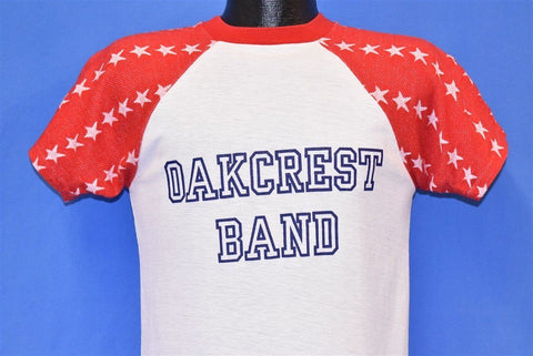 80s Oakcrest Band White Stars Patriotic Jersey t-shirt Small